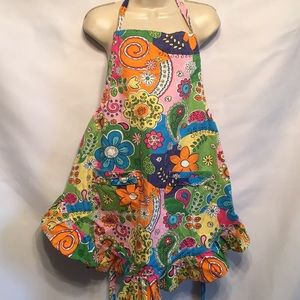 🍰Easy care Floral Apron flowers paisleys 🌸🌺🌼